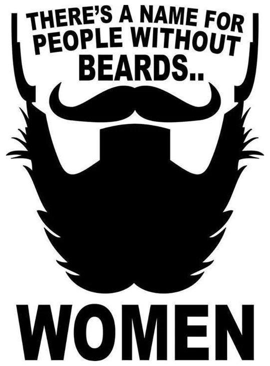 no beard, woman