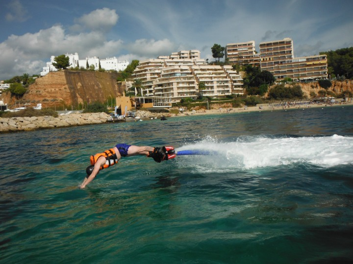 Dolphin diving like a pro on the flyboard in Magaluf