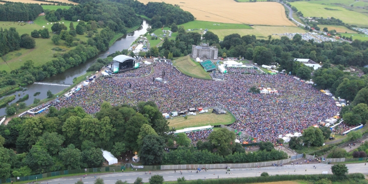 An ariel view at Slane Concert with Eminem 2013 on Saturday 17th August 2013 if you squint and stare really hard you can see slane girl